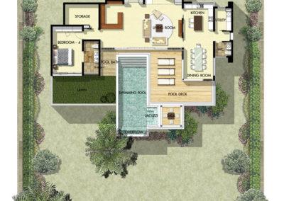 Saitara Peak Villa Zarya (4 Bedrooms) Ground Floor